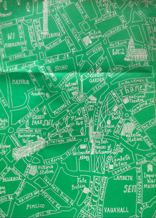 London map on paper
